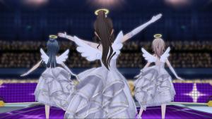 ときめきアイドル天使の羽根とわっか 神々しい一枚